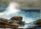 """Un""""geant"""" de l'aquarelle : Winslow Homer, peintre de la mer"""